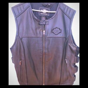 Harley Davidson leather swat vest